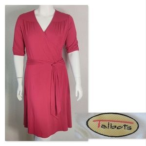 Talbots Red Size 12 3/4 Length Sleeve Dress